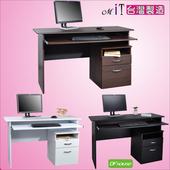 《DFhouse》黑森林附鍵盤電腦桌附檔案櫃-三色可選(黑色)