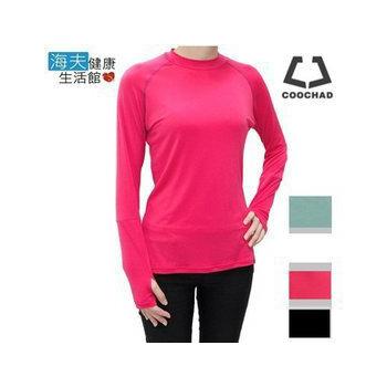 《【海夫健康生活館】》COOCHAD 天然涼感長袖運動衫(女款)(白色M)