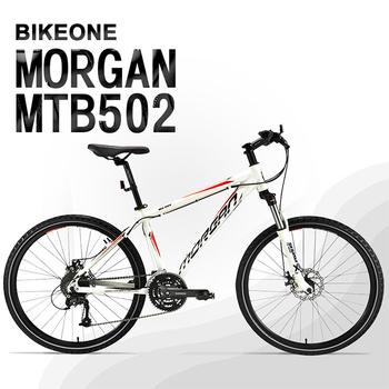 《BIKEONE》MTB502 臺灣製造26吋鋁合金登山車 27速AECRA大全套 可鎖死前叉 山地車市場主流新規格!(14吋/白)