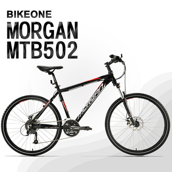 《BIKEONE》MTB502 臺灣製造26吋鋁合金登山車 27速AECRA大全套 可鎖死前叉 山地車市場主流新規格!(16吋/黑)