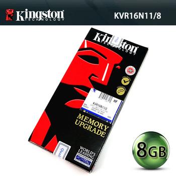 Kingston 金士頓 8GB DDR3 1600 桌上型記憶體(KVR16N11/8)(8GB DDR3 1600)