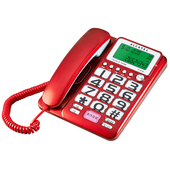 《Alcatel》來去電報號有線電話T-216(顏色隨機)
