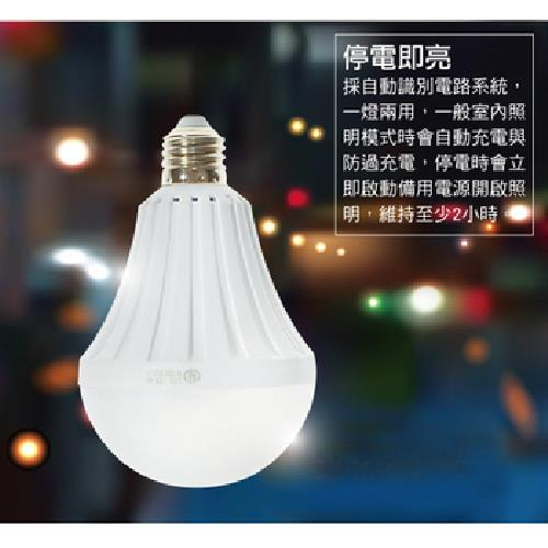 LED緊急照明燈泡12W
