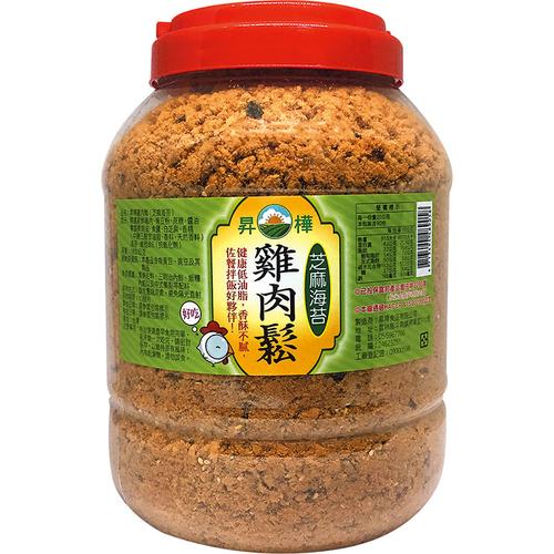 《昇樺》海苔芝麻雞肉鬆(1.8kg/桶)-UUPON點數5倍送(即日起~2019-08-29)
