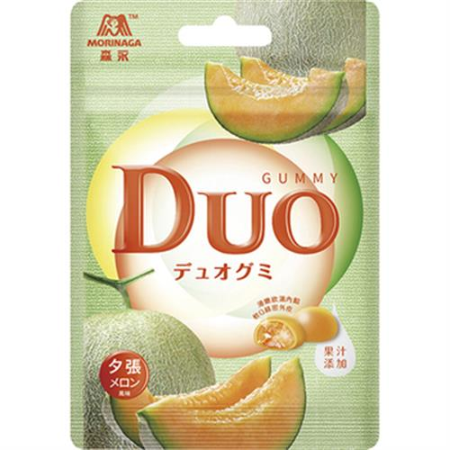 森永 嘟歐雙層QQ軟糖(夕張哈密瓜)(40g/包)