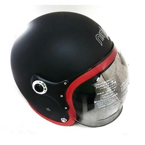 K805P泡泡鏡騎士帽(平黑紅)