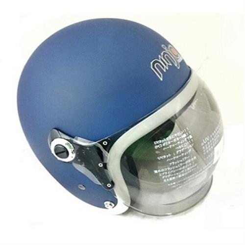 K805P泡泡鏡騎士帽(平藍白)