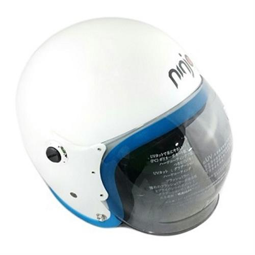 K805P泡泡鏡騎士帽(白藍)