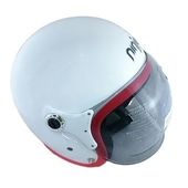 K805P泡泡鏡騎士帽(白紅)