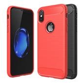 《YANGYI揚邑》Apple iPhone X / XS 拉絲紋碳纖維軟殼散熱防震抗摔手機殼(碳纖拉絲軟殼-黑)