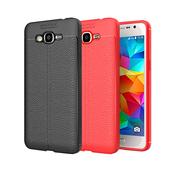 《YANGYI揚邑》Samsung Galaxy J2 Prime 5吋 碳纖維皮革紋軟殼散熱防震抗摔手機殼(碳纖皮革軟殼-黑)
