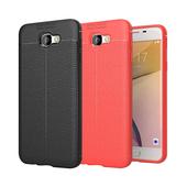 《YANGYI揚邑》Samsung Galaxy J7 Prime 5.5吋 碳纖維皮革紋軟殼散熱防震抗摔手機殼(碳纖皮革軟殼-黑)