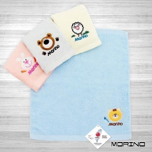 MORINO 素色貼布繡方巾(藍)