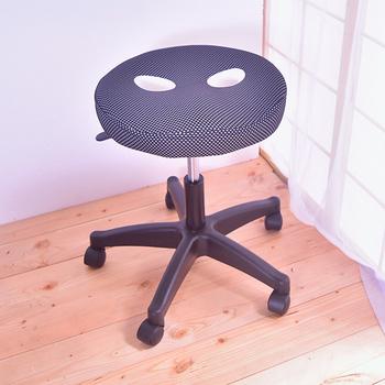 凱堡 圓型釋壓椅 /氣壓椅/工作椅/美容椅(黑)