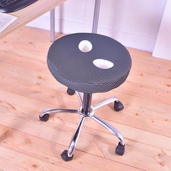 凱堡 圓型釋壓鐵腳椅 /氣壓椅/工作椅/美容椅(黑)
