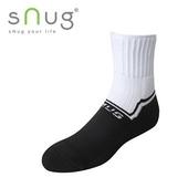 《台灣製SNUG》運動襪 20-22cm(白黑)