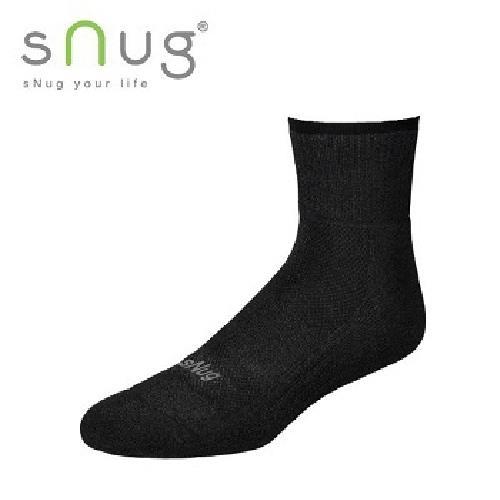 《台灣製SNUG》運動襪 25-27cm(黑)