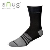《台灣製SNUG》紳士襪-黑灰(25-27CM)