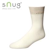 《台灣製SNUG》紳士襪-米白25-27