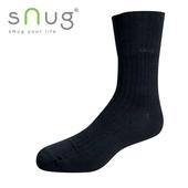 《台灣製SNUG》紳士寬口襪-2527cm(黑)