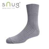 《台灣製SNUG》紳士寬口襪-2527cm(灰)