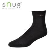 《台灣製SNUG》休閒短襪-黑(25-27CM)