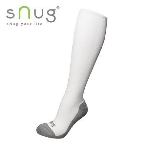 《台灣製SNUG》彈力膝下襪 22-24cm(白)