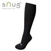 《台灣製SNUG》彈力膝下襪 25-27cm(黑)