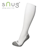 《台灣製SNUG》彈力膝下襪 25-27cm(白)