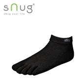 《台灣製SNUG》五趾船襪-黑(22-24cm)