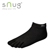 《台灣製SNUG》五趾船襪-黑(25-27CM)