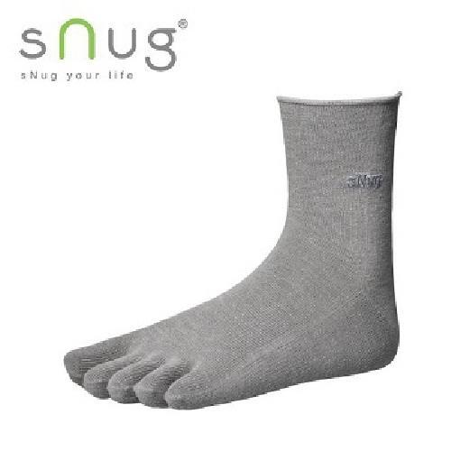 《台灣製SNUG》五趾襪 25~27cm(灰)