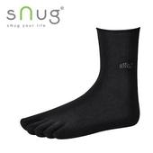 《台灣製SNUG》五趾襪27-29cm(黑)