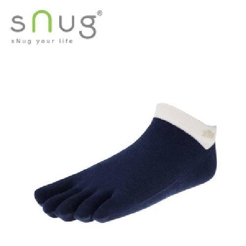 《台灣製SNUG》五趾船襪-米藍22-24cm