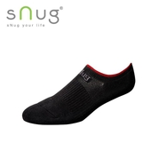 《台灣製SNUG》運動船襪-紅黑(20-22cm)