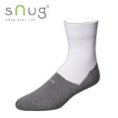 《台灣製SNUG》學生襪-白灰(25-27CM)