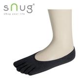 《台灣製SNUG》五趾隱形襪-黑25-27cm