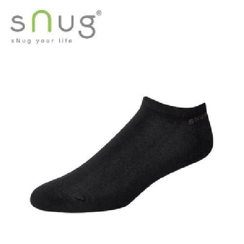 《台灣製SNUG》船襪-黑(20-22cm)