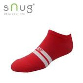 《台灣製SNUG》時尚船襪-紅白(22-24cm)