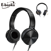 《E-books》S84 可翻摺DJ型耳罩式耳機(黑)