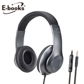 《E-books》S78 立體聲頭戴式耳機麥克風(鐵灰)