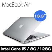 《Apple》MacBook Air 13.3吋/i5雙核1.8GHz/8G/128G 輕薄蘋果筆電(MQD32TA/A)