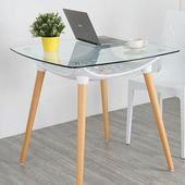 《Homelike》柯絲北歐風玻璃桌(優雅白)