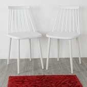 《Homelike》莎拉北歐造型餐椅-二入組(亮麗白)
