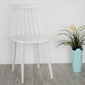 《Homelike》莎拉北歐造型餐椅(亮麗白)