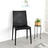 《Homelike》布倫丹仿藤造型餐椅(經典黑)