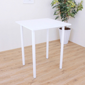 《頂堅》深80x寬80x高98/公分(PVC防潮材質)方形高腳桌/吧台桌/洽談桌/酒吧桌(二色可選)(素雅白色)