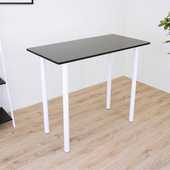 《頂堅》深60x寬120x高98/公分(PVC防潮材質)高腳桌/吧台桌/洽談桌/酒吧桌/餐桌(二色可選)(深胡桃木色)
