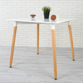 《Homelike》貝絲特北歐風餐桌(亮麗白)