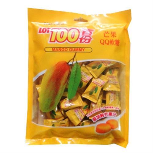 《一百份》QQ軟糖200G/袋(芒果味)